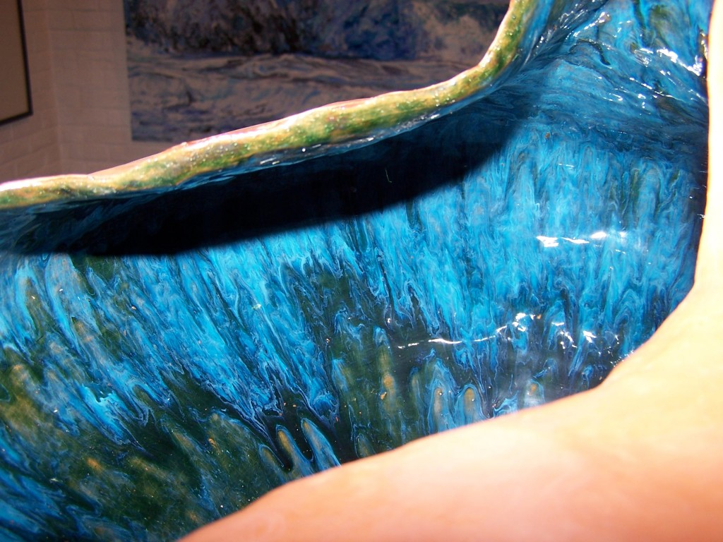 Detail of large organic vessel